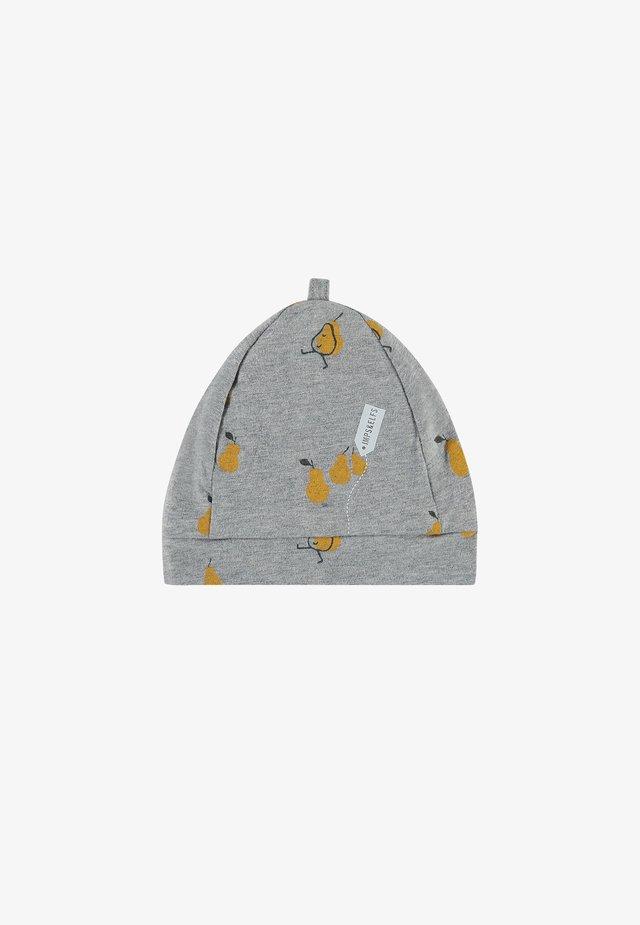 Beanie - grey melange aop pears