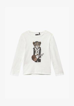 SHINING TIGER - T-shirt à manches longues - blanc cassé