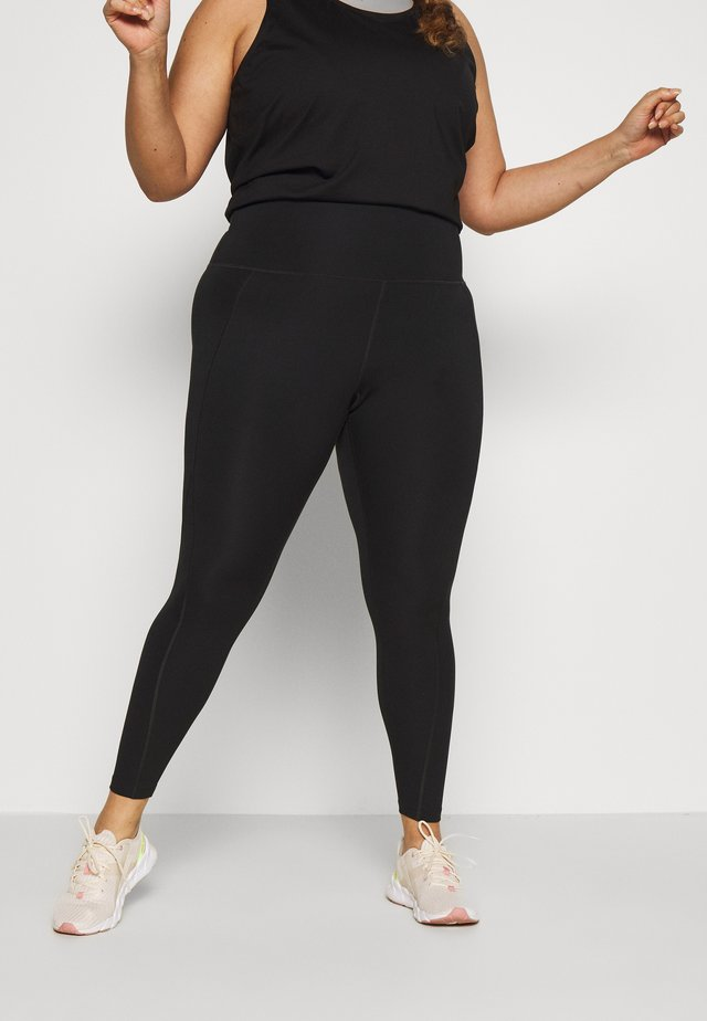 HIGH WAIST LEGGINGS CURVE - Leggings - black