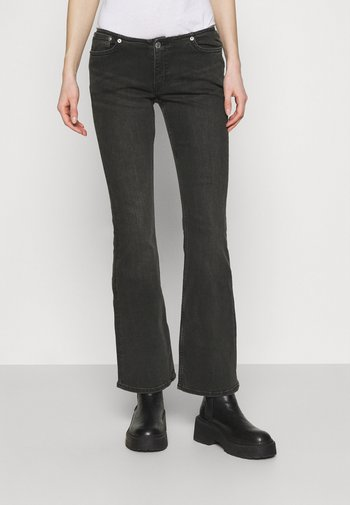 JEANS TUNED BLACK - Flared Jeans - tuned black
