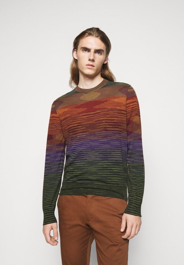 LONG SLEEVE CREW NECK - Strickpullover - multi-coloured