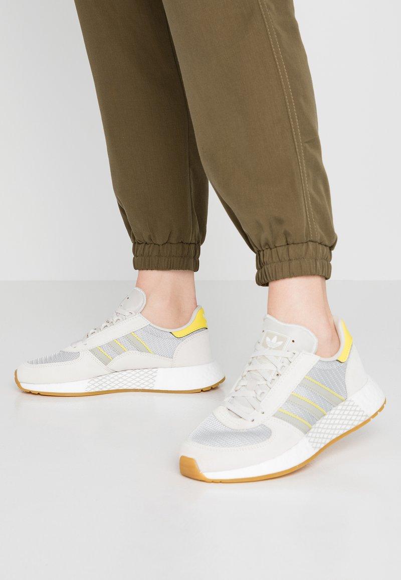 adidas Originals - MARATHON TECH  - Trainers - raw white/sesame/bright yellow