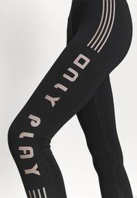 ONLY Play - ONPJUTA LIFE LEG - Leggings - black/deep taupe - 4