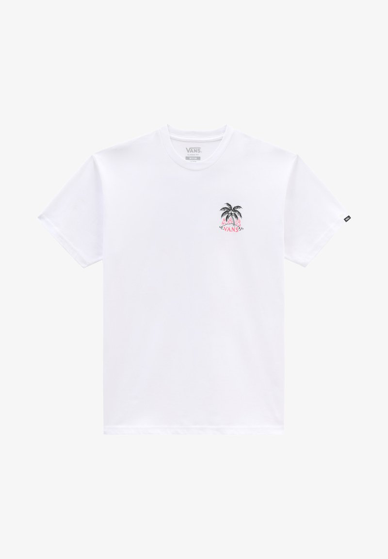 Vans - MN HEATWAVE PARADISE SS - Print T-shirt - white