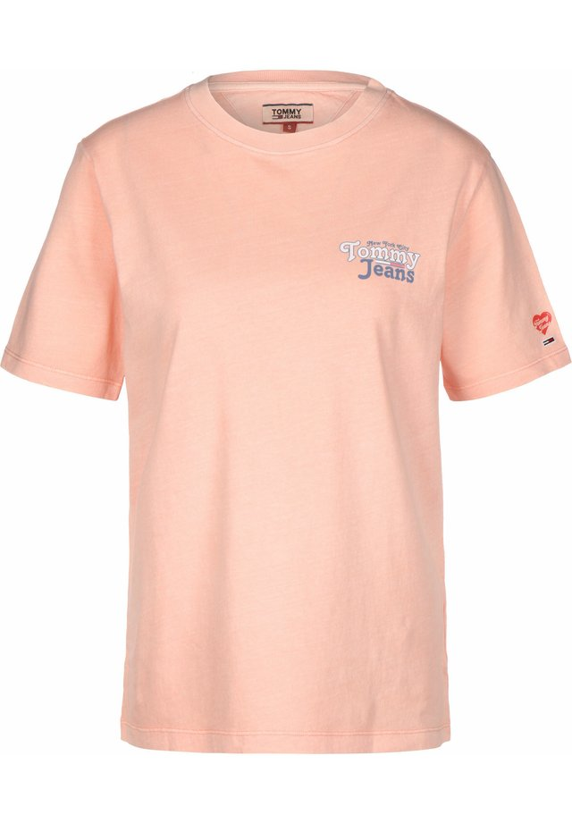 SUMMER REPEAT BACK - T-shirt con stampa - sweet peach