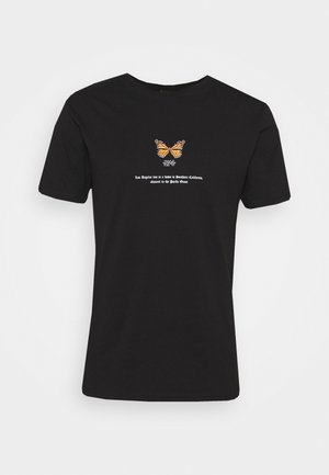BUTTERFLY TEE - Print T-shirt - black