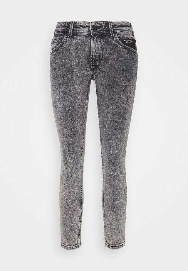 ALVA CROPPED - Jeans Skinny - dark grey acid