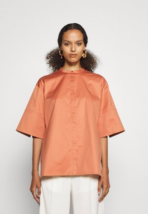 SHIRT WITH SPLITS - Blouse - sepia brown