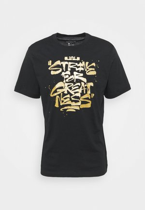 TEE - Print T-shirt - black/metallic gold