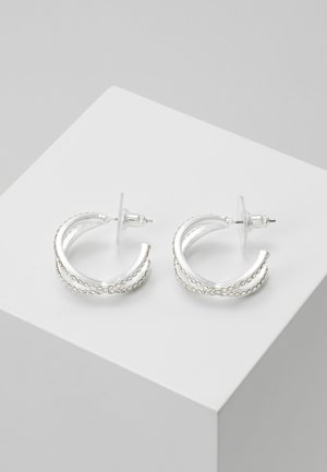 FRANCIS OVAL EAR - Korvakorut - silver-coloured/clear