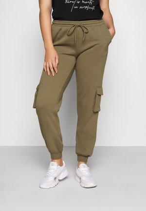 PCSARIA PANTS - Trousers - burnt olive