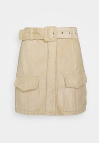 Glamorous Petite - BELTED MINI SKIRT WITH POCKET DETAIL - Pencil skirt - stone corduroy - 3