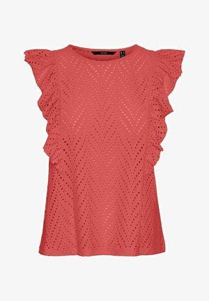 VMLEAH - Print T-shirt - spiced coral