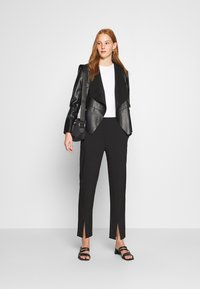 Dorothy Perkins - WATERFALL JACKET - Faux leather jacket - black - 1