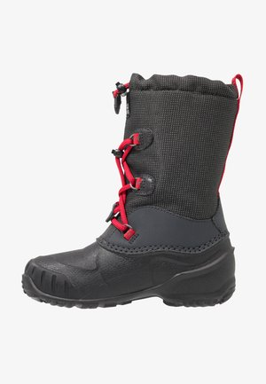 ICELAND TEXAPORE HIGH - Snowboot/Winterstiefel - black/red