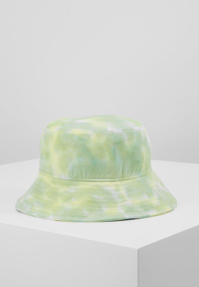 BUCKET HAT - Sombrero - neon yellow/white/light green combo
