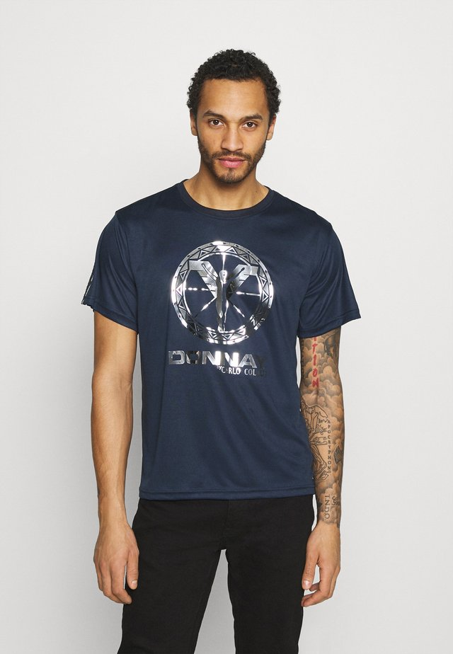 DONNAY X CARLO COLUCCI - T-shirt med print - dark blue/silver