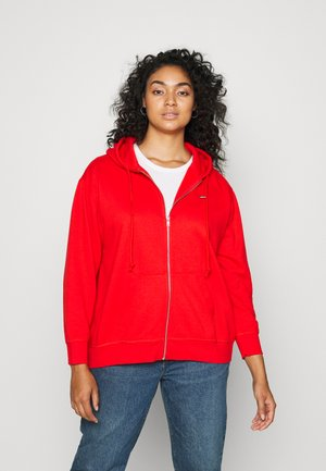STANDARD ZIP HOODIE - Zip-up sweatshirt - flame scarlet