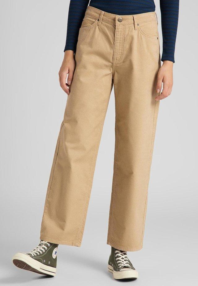 WIDE LEG - Pantaloni - cornstalk