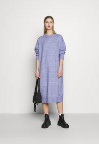 Monki - Jumper dress - blue solid - 1