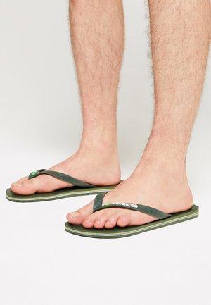 BRASIL LOGO - Pool shoes - green olive