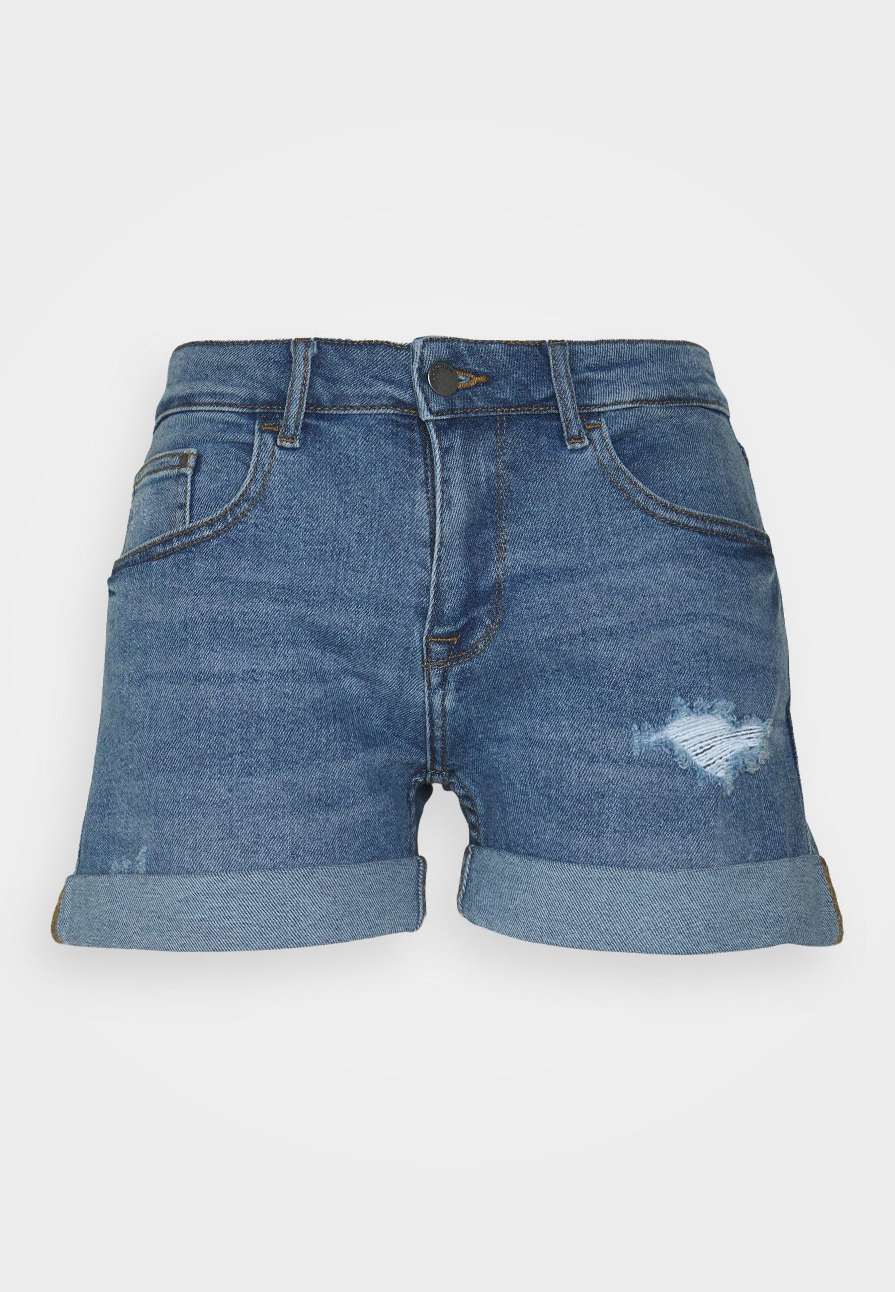 Women JDYTYSON LIFE FOLD UP MIX - Denim shorts