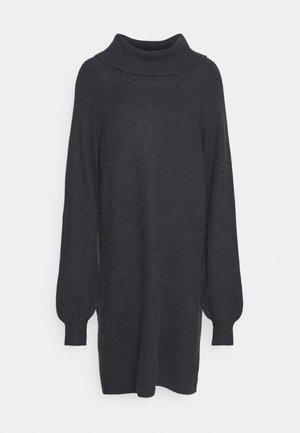 ANWEN - Pletené šaty - blue night melange
