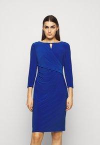 Lauren Ralph Lauren - MID WEIGHT DRESS TRIM - Shift dress - summer sapphire - 0