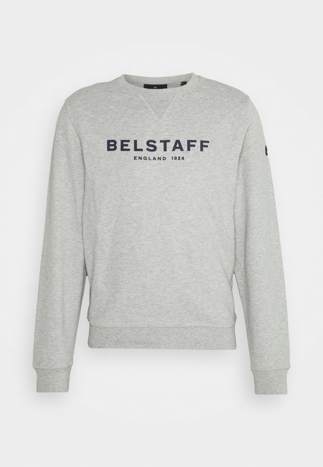 Sweatshirt - grey melange/dark navy