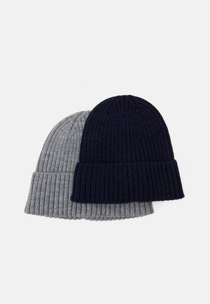 2 PACK UNISEX - Beanie - grey/dark blue