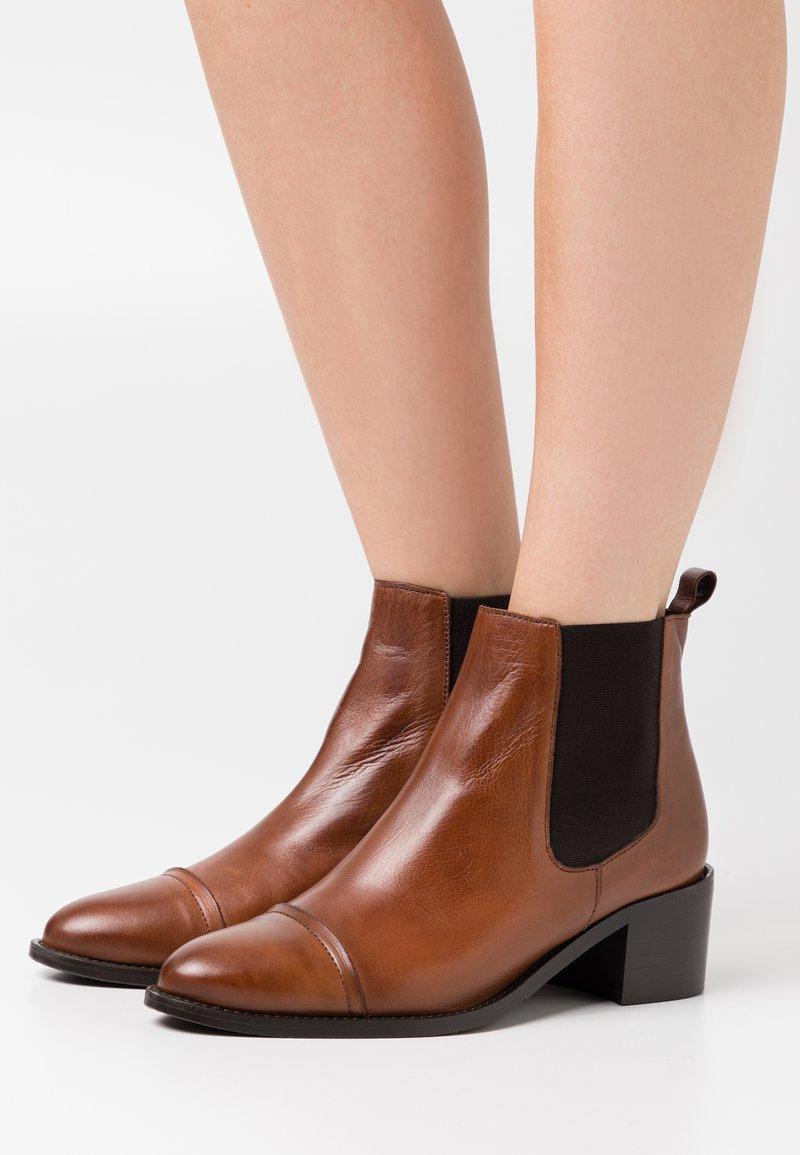 Bianco - BIACAROL - Ankle boot - cognac