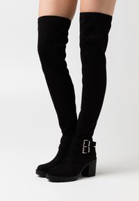 ONLY SHOES - ONLBARBARA LIFE BUCKLED  - Over-the-knee boots - black - 0