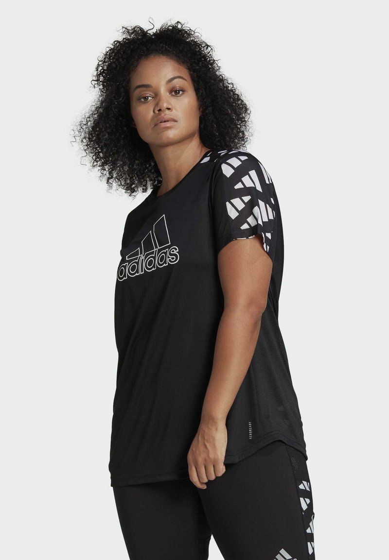 adidas Performance - OWN THE RUN CELEBRATION T-SHIRT (PLUS SIZE) - T-shirt print - black
