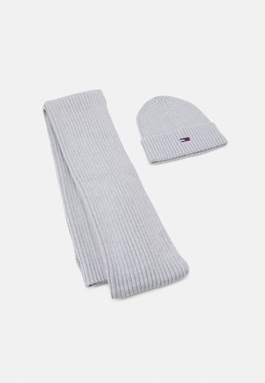 BASIC RIB SCARF & BEANIE SET - Scarf - grey
