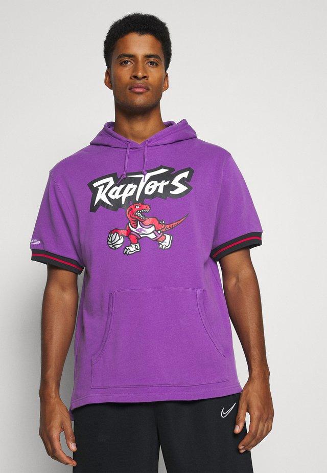 TORONTO RAPTORS SHORT SLEEVE HOODY - Vereinsmannschaften - raptors purple