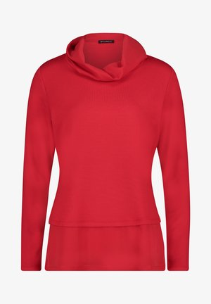 Long sleeved top - tango red