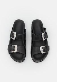 YAS - Mules - black/silver - 5