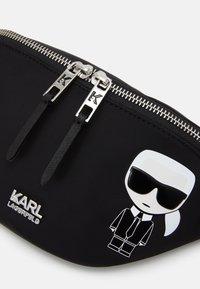 KARL LAGERFELD - IKONIK BUMBAG UNISEX - Bum bag - black - 4