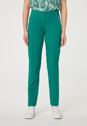 CON CREMALLERAS - Kalhoty - verde oscuro