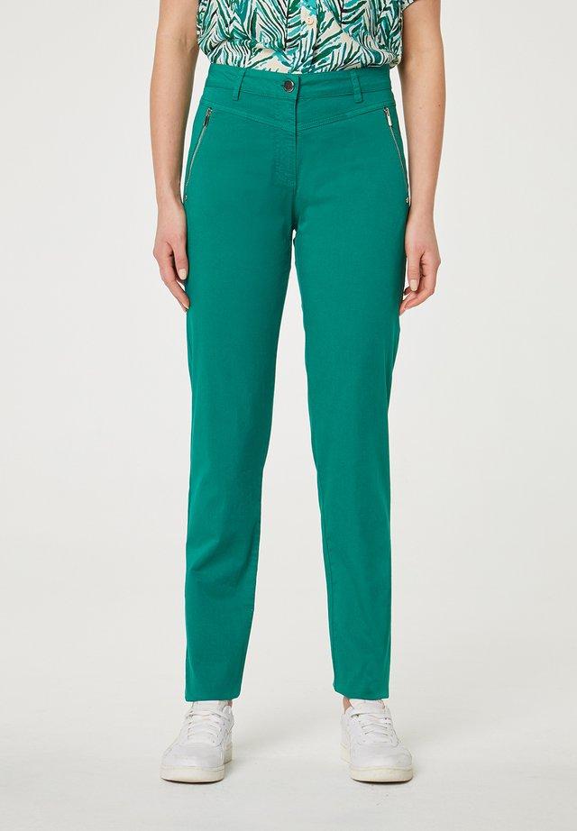 CON CREMALLERAS - Pantalon classique - verde oscuro