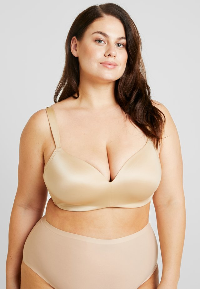 PLUS PADDED WIRELESS BRA - Kaarituettomat rintaliivit - honey