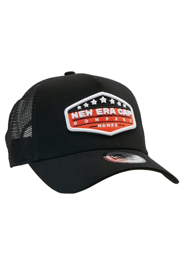 New Era Patch Trucker - Cap Orange/black/optic White/schwarz