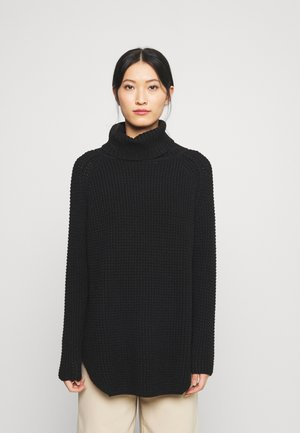 LONG SLEEVE TURTLENECK - Jumper - black