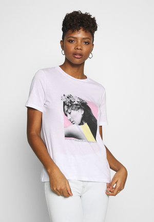 PCFLORAL HEAD TEE - T-shirts med print - bright white