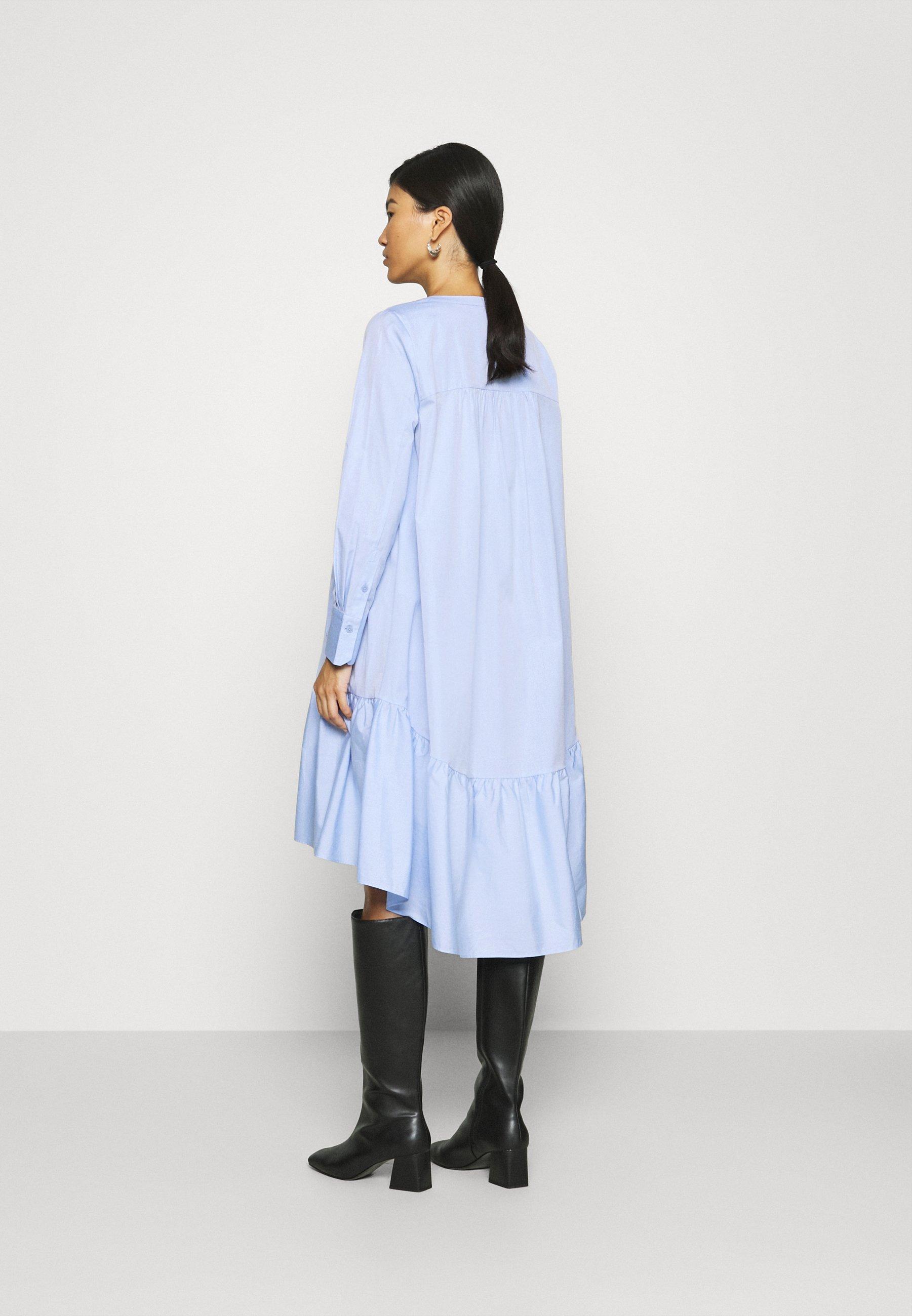 Second Female HEAVEN MIDI DRESS Freizeitkleid chambray blue/hellblau