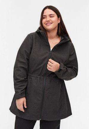 Waterproof jacket - dark grey melange