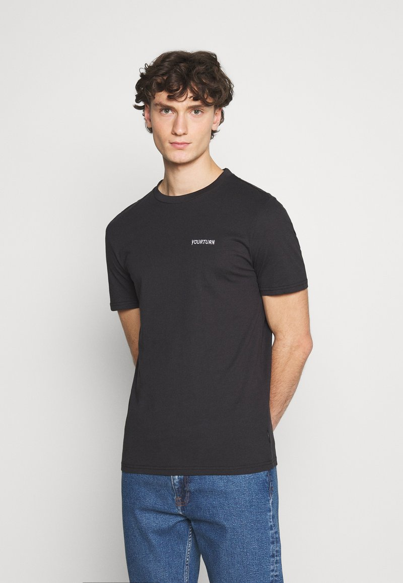 YOURTURN - UNISEX - Basic T-shirt - black