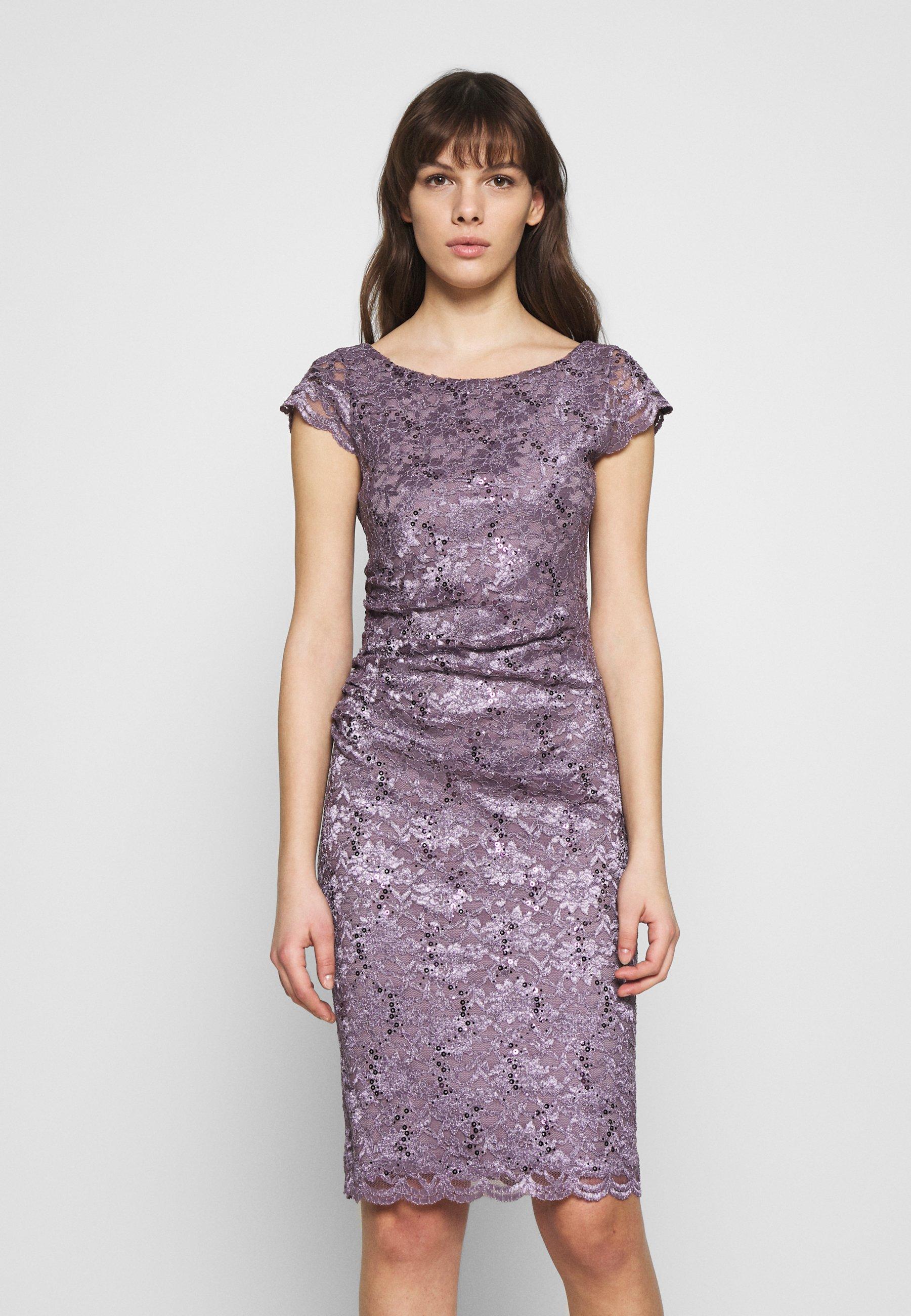 Cocktailkleid/festliches Kleid - grau/violett