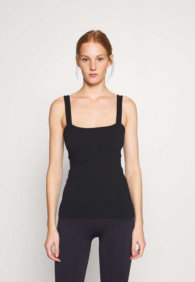 YOGA TOP - Toppe - black dark