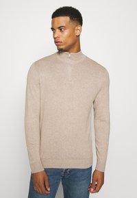 Burton Menswear London - CORE HALF ZIP - Trui - ecru - 0
